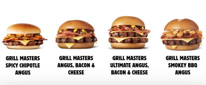 Jelenlegi Grill Masters burgerek (forrás: internet)